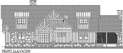 Magnificent Log Home Plan With Detached Garage - 13314WW thumb - 02