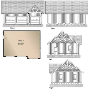 Magnificent Log Home Plan With Detached Garage - 13314WW thumb - 03