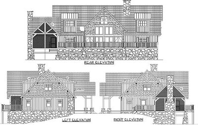 Magnificent Log Home Plan With Detached Garage - 13314WW thumb - 04