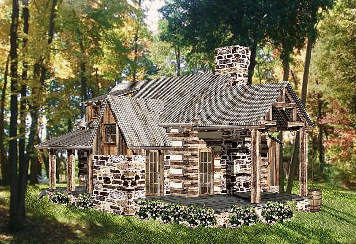 Rustic Vacation Log House Plan 13333ww 1st Floor