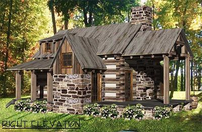 Rustic Vacation Log House Plan 13333ww Architectural