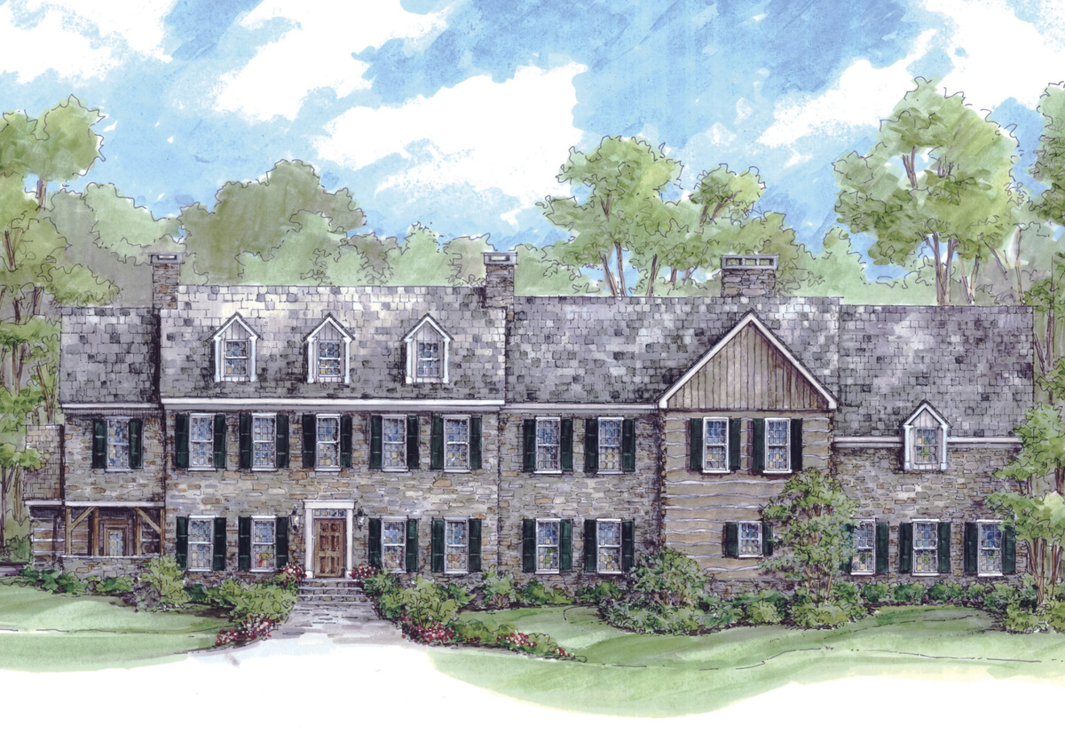 Massive colonial house plan 13336ww architectural for Large colonial house plans