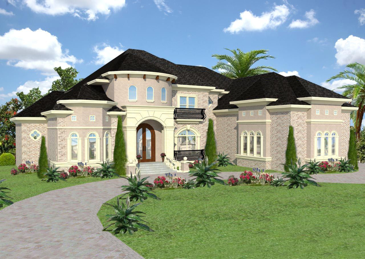 Six bedroom european mansion 13496by architectural for European estate house plans