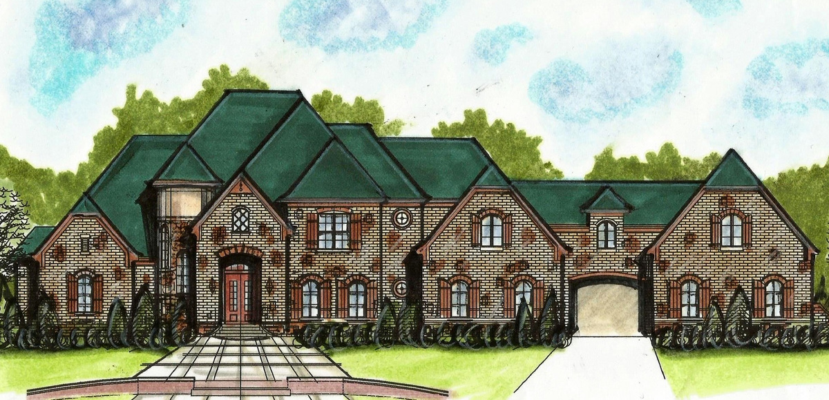 European house plans with porte cochere for French country house plans with porte cochere