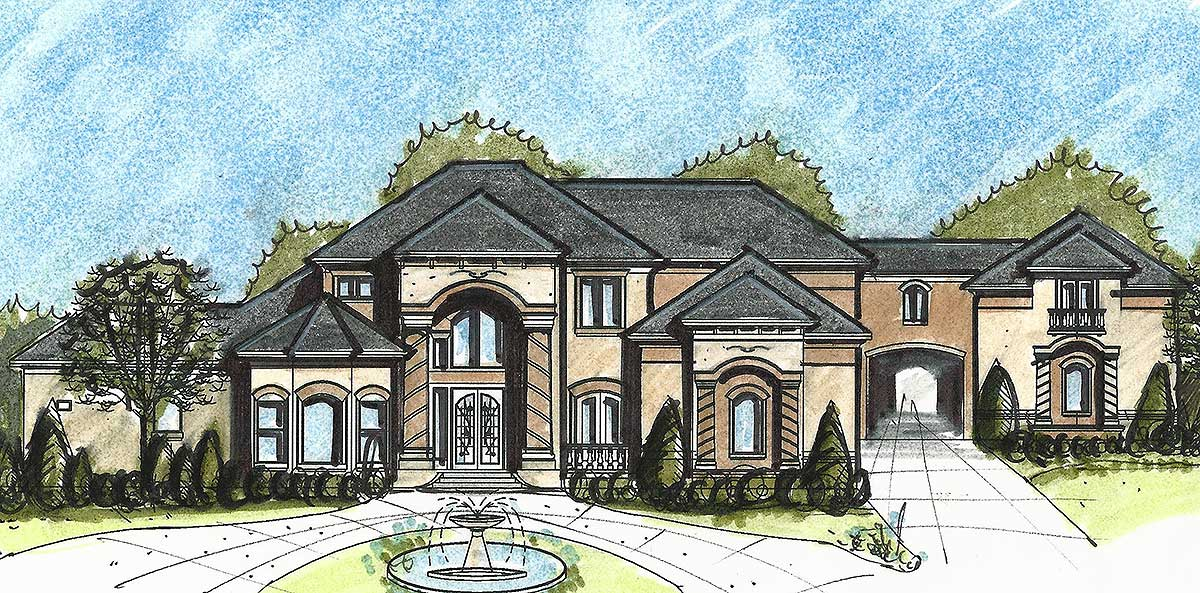 European Masterpiece With Porte Cochere 13503by