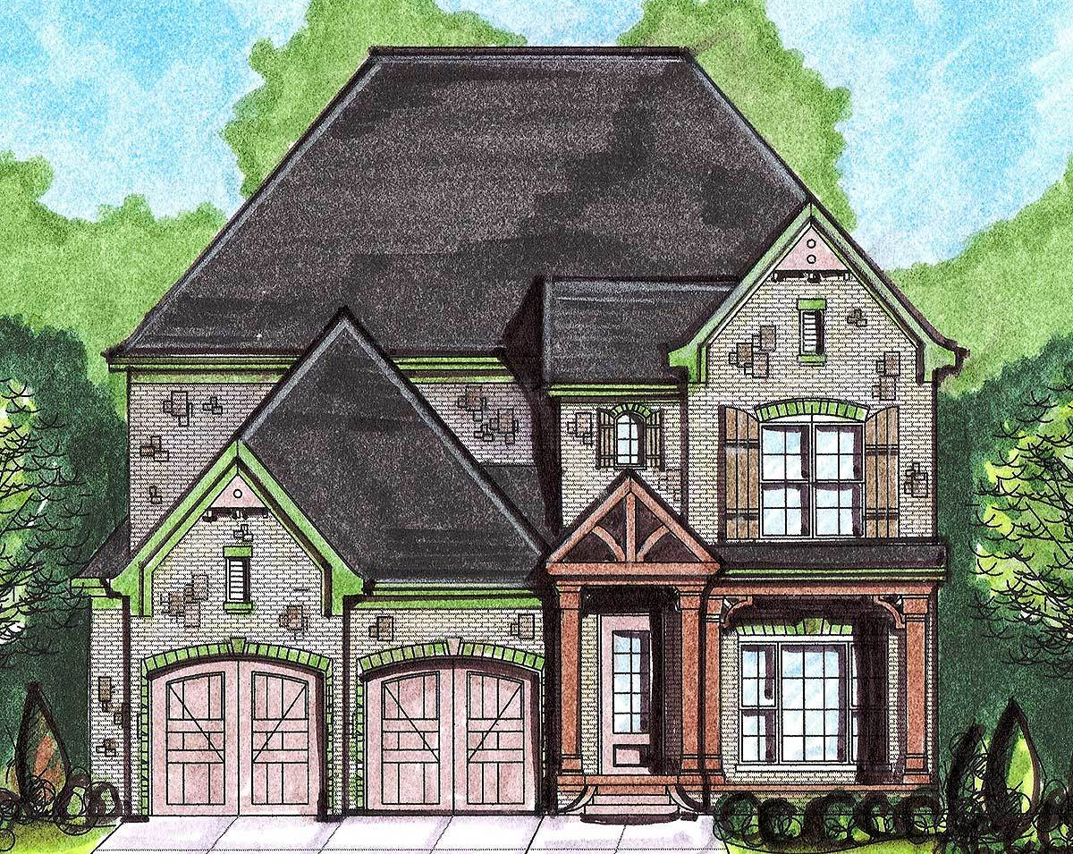 narrow lot european house plan 13538by architectural