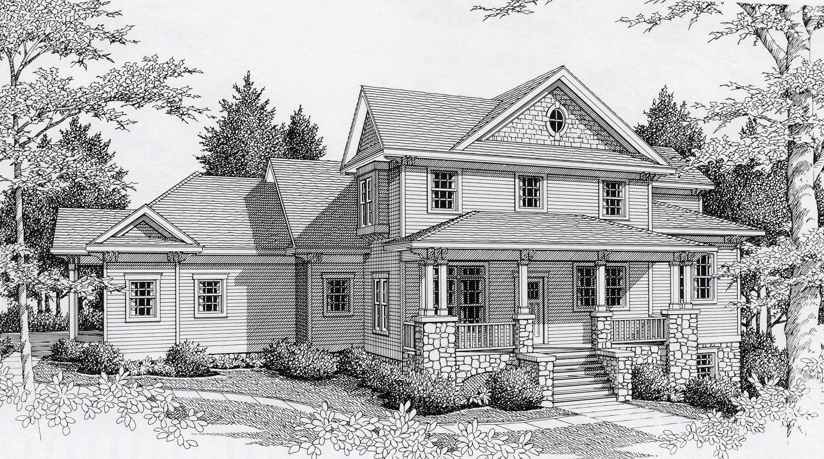Prairie look 14023dt architectural designs house plans for Prairie home plans
