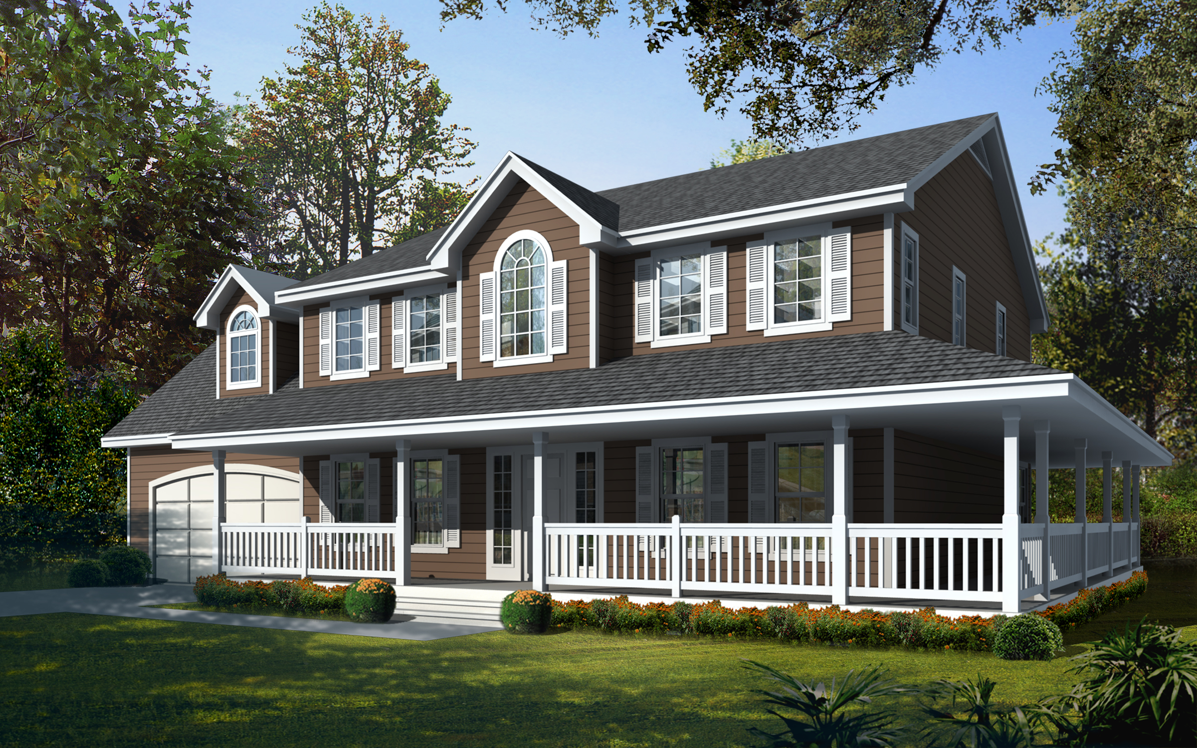 Wrap around porch 14049dt 2nd floor master suite for Country farmhouse floor plans