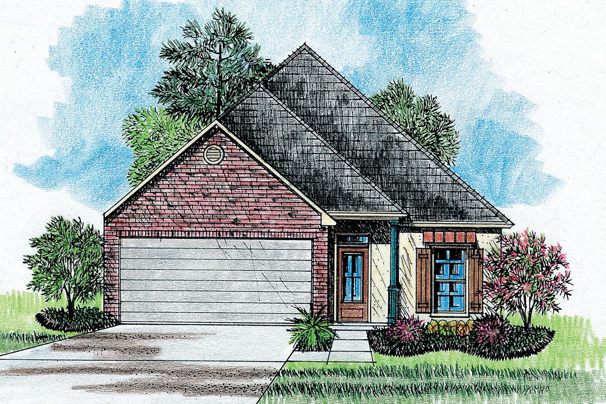 Louisiana garden style house plan 14110kb for Louisiana style home designs