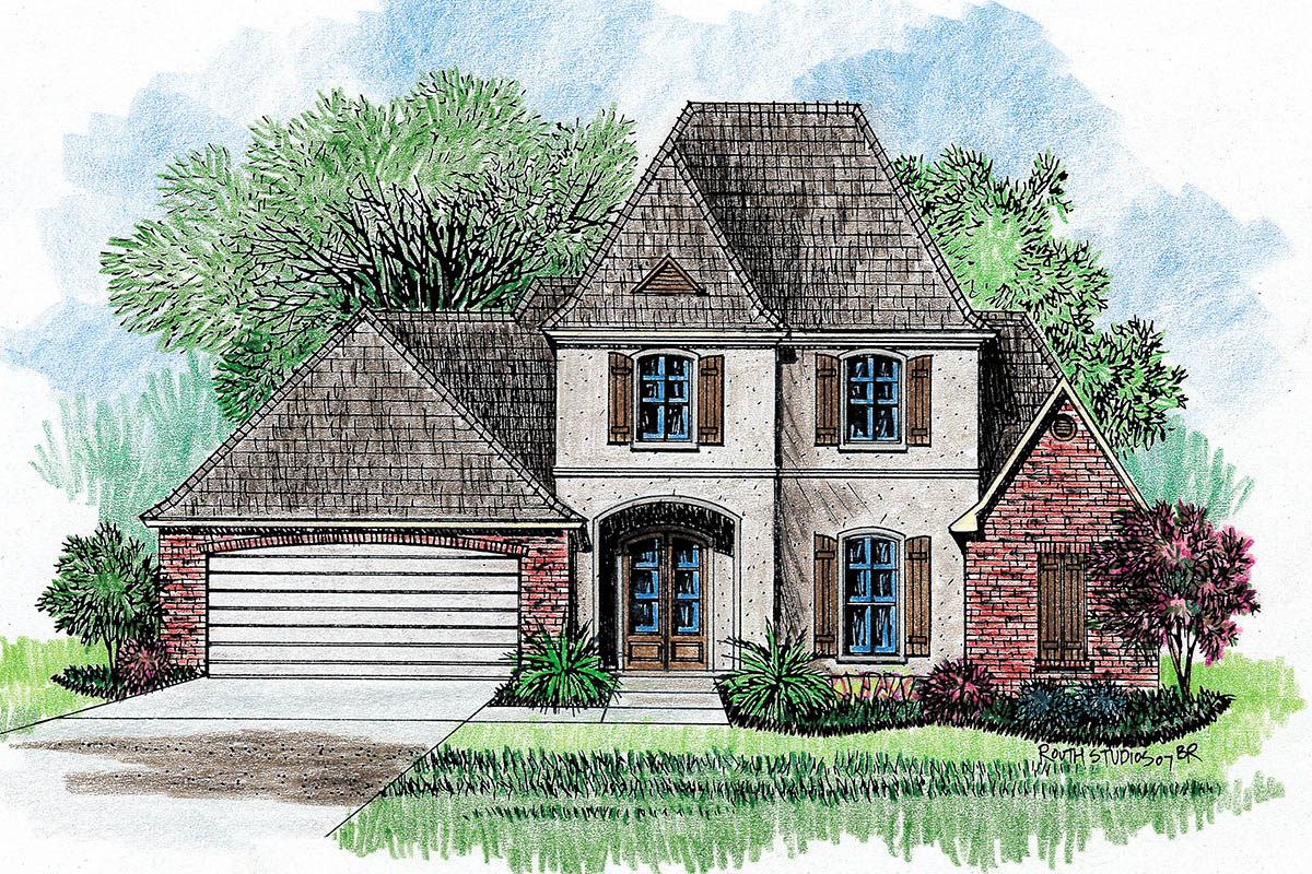 Southern charm 14114kb architectural designs house plans for Southern charm house plans