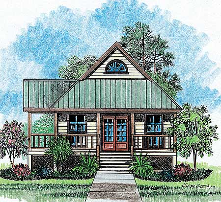 Charming cottage home plan 14119kb architectural for Charming cottage house plans