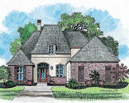 classic country french house plan 14124kb