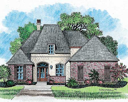 Classic country french house plan 14124kb for Classic house french kiss