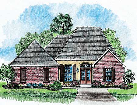 Elegant french country home plan 14134kb 1st floor for Elegant country homes