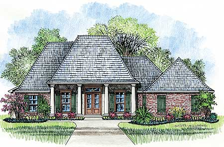 Porches front and back 14137kb architectural designs French country house plans with front porch