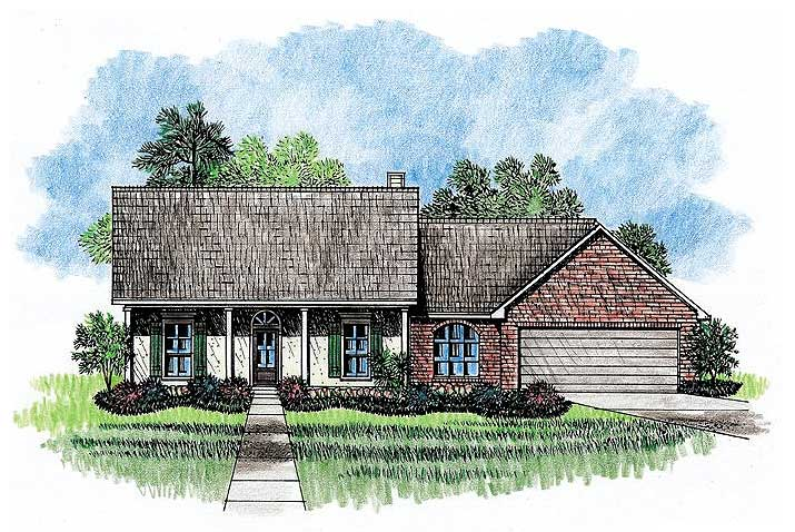 Southern louisiana acadian house plan 14159kb for Louisiana acadian house plans