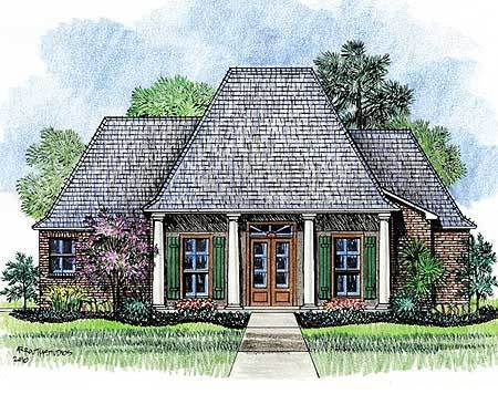 Louisiana french country home plan 14161kb for Home plans louisiana