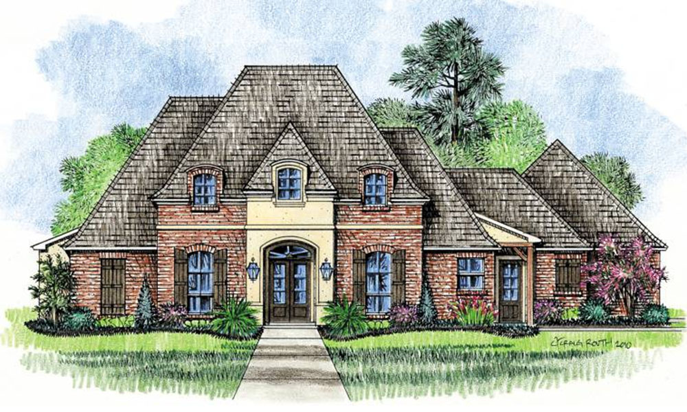 Beautiful louisiana french country home 14166kb for Country french house plans louisiana