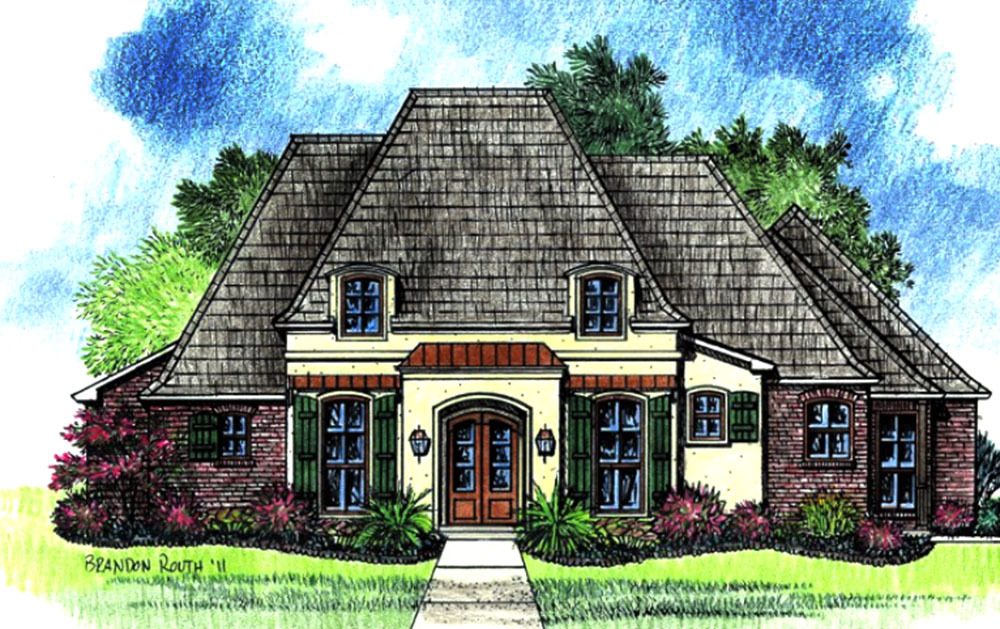 French country home with open floor plan 14174kb for French country house plans open floor plan