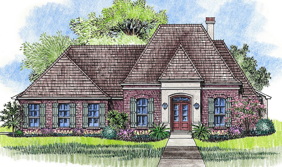 Gulf coast styling with carport 14183kb architectural for Gulf coast cottage plans