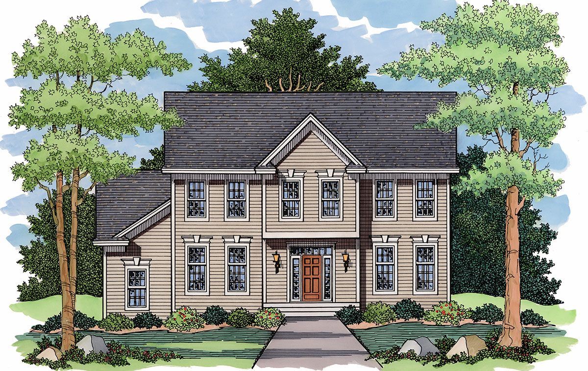 Classic colonial 14321rk architectural designs house for Classic colonial home plans