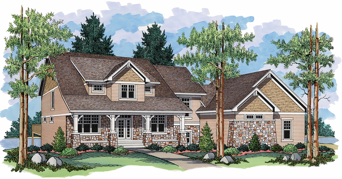 Cathedral ceiling master suite 14326rk architectural for Cathedral ceiling home plans