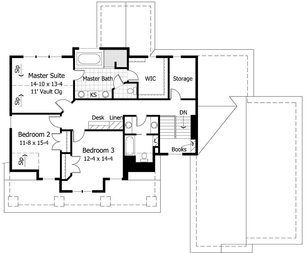 Cathedral ceiling master suite 14326rk architectural for South cathedral mansions floor plans