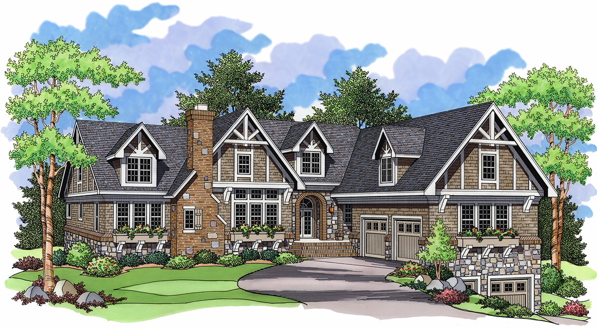 Detailed Peaks 14360rk Architectural Designs House Plans