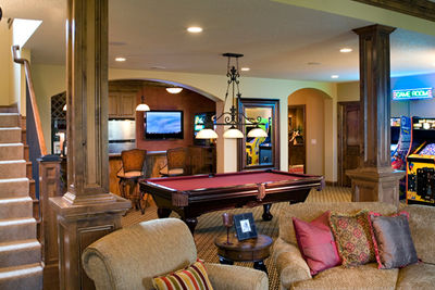 Architectural designs - Game room in house ...
