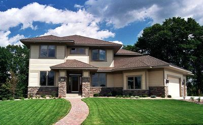Prairie Style House Plan with Angled Garage 14410RK – Prairie Style Garage Plans