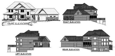 Exclusive 4 Bedroom Luxury Home Plan - 14462RK thumb - 14