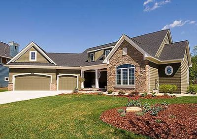 Angled garage beauty 14466rk 1st floor master suite for Angled garage house plans