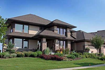 prairie style home with hobby room 14505rk thumb 01. beautiful ideas. Home Design Ideas