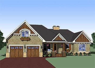 Attractive 3 bedroom rambler 14565rk architectural for Rambling ranch house plans
