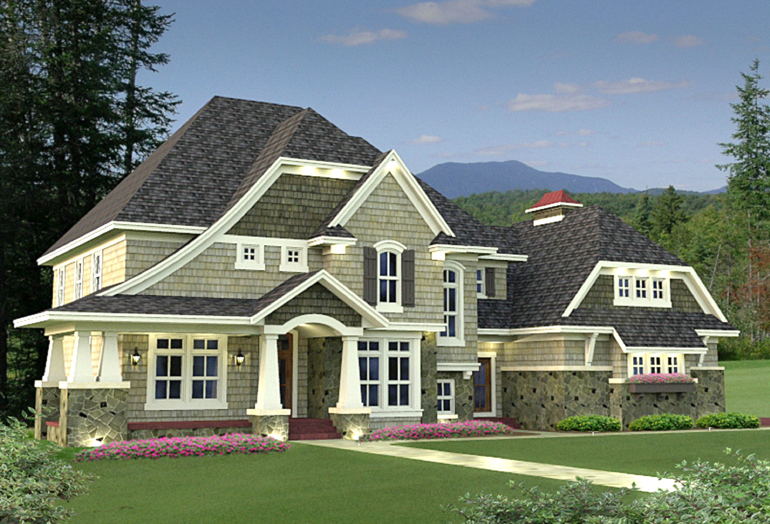4 Bedroom Shingle Style Stunner 14589rk Architectural