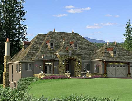 Flexible french country house plan 14593rk 1st floor for European country house plans