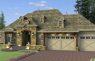 Architectural designs for French country garage plans