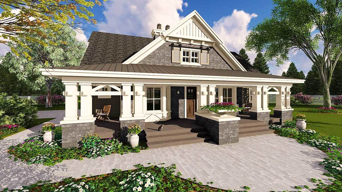Beautifully Designed Craftsman Home Plan 14604RK