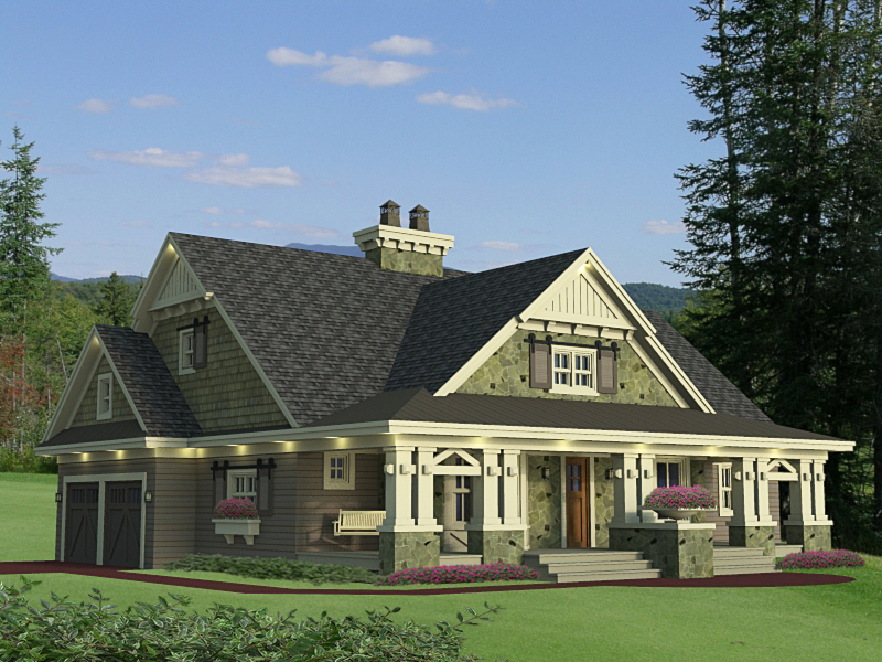 Beautifully designed craftsman home plan 14604rk for Perfect for corner lot house plans