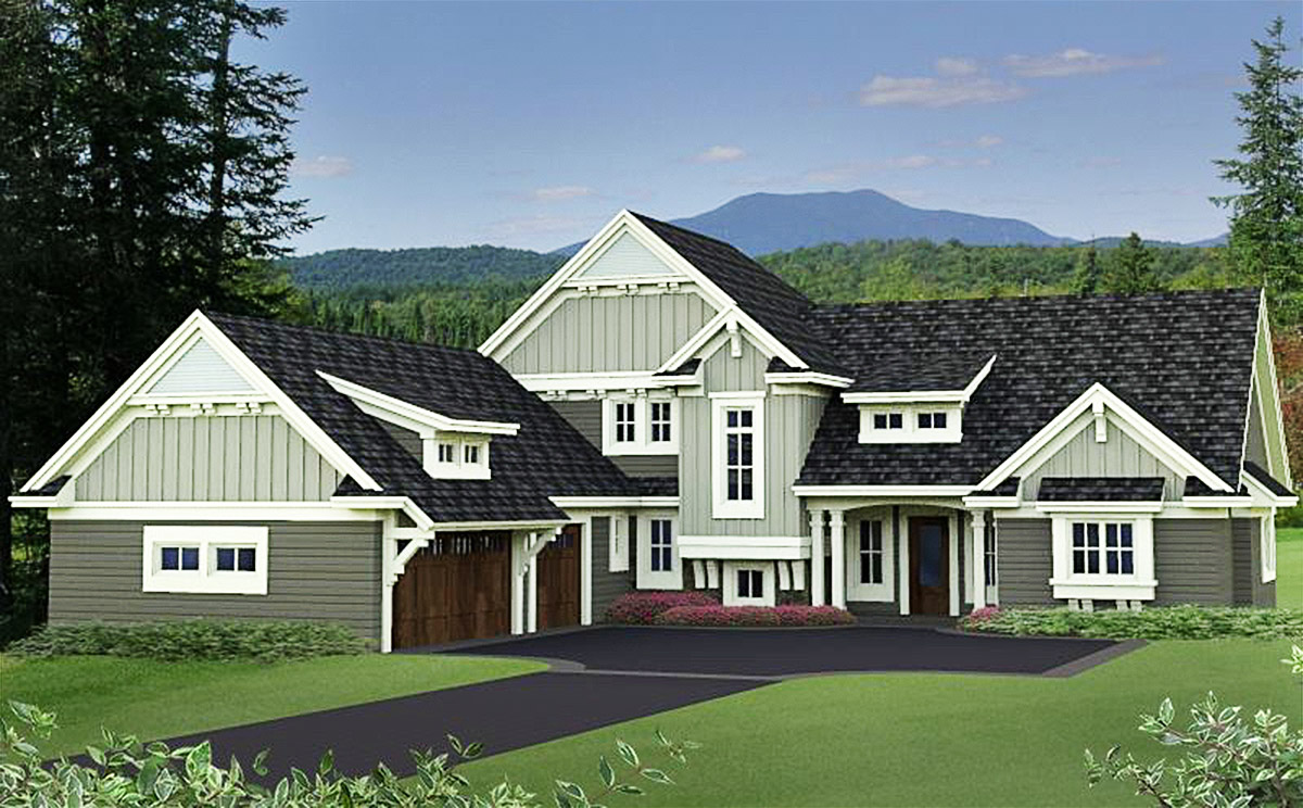Quality craftsman house plan 14619rk architectural for Quality house plans