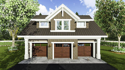 3 Car Garage Apartment with Class - 14631RK   Architectural ...