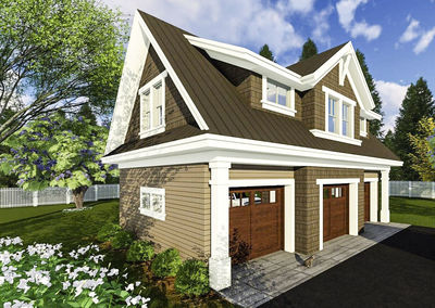 3 Car Garage Apartment with Class - 14631RK | Architectural ...