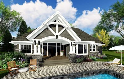 Exciting Craftsman House Plan   14649RK Thumb   03