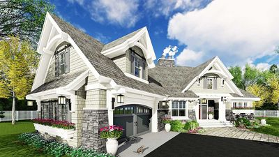 Exciting Craftsman House Plan   14651RK Thumb   03