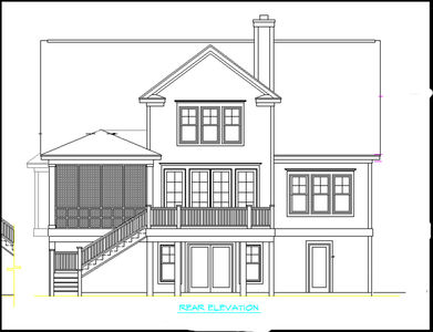 Raised beach house delight 15019nc 1st floor master suite beach cad available elevator - Summer house plans delight relaxation ...