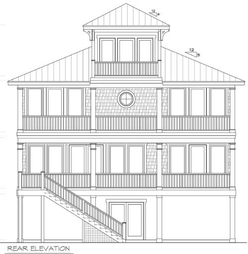 Beach house plan with cupola 15033nc 2nd floor master for Cupola plans pdf