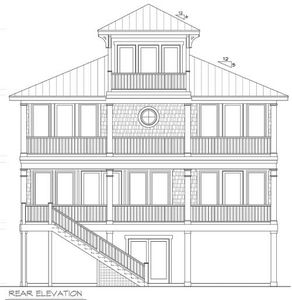 beach house plan with cupola 15033nc thumb 02 - Beach House Plans With Tower