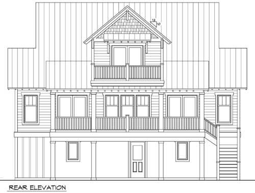 Beach house plan for narrow lot 15034nc 1st floor for Beach house plans with garage underneath