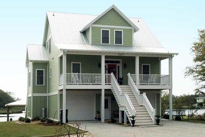 beach house plan for narrow lot 15034nc thumb 02