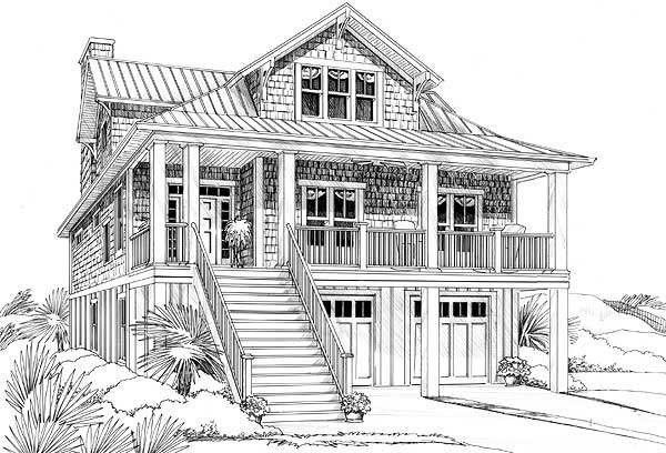 Architectural designs for Low country cottage plans